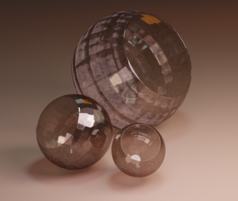 digital 3D – glass orbs